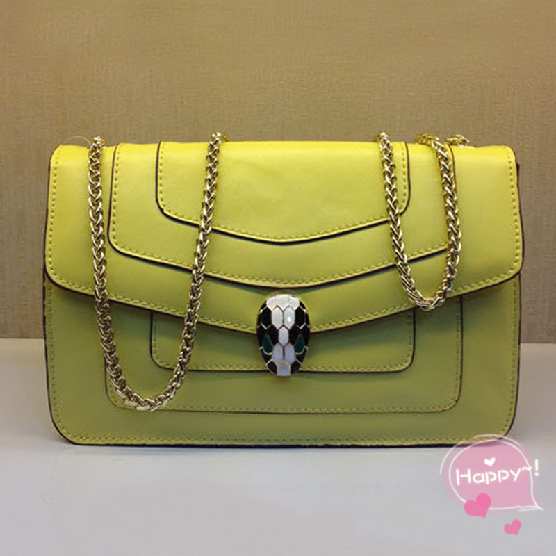 bag dans Bulgari snakeheads 2015 bandoulière fashion Serpenti enamel chain de new diagonal quality bag Serpenti shoulder à High bag Sacs bag leather BG093 FxU8qYvnxw