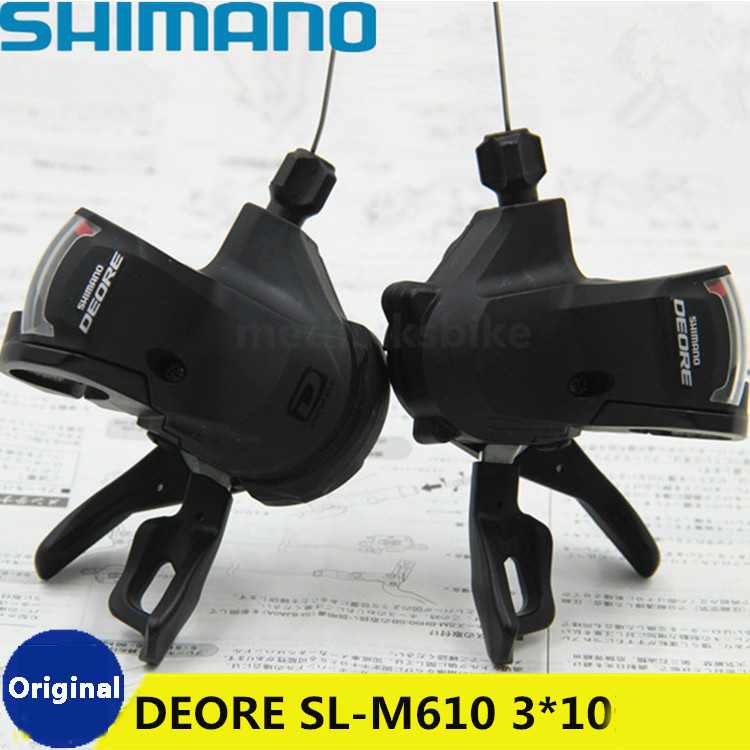 SHIMANO Deore M610 conjoined DIP with brake handle 2 3X10 20 30 speed bicycle derailleur MTB