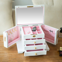 Large wooden jewelry box multi layer drawer earring box bracelet jewelry necklace gift box LM01141701