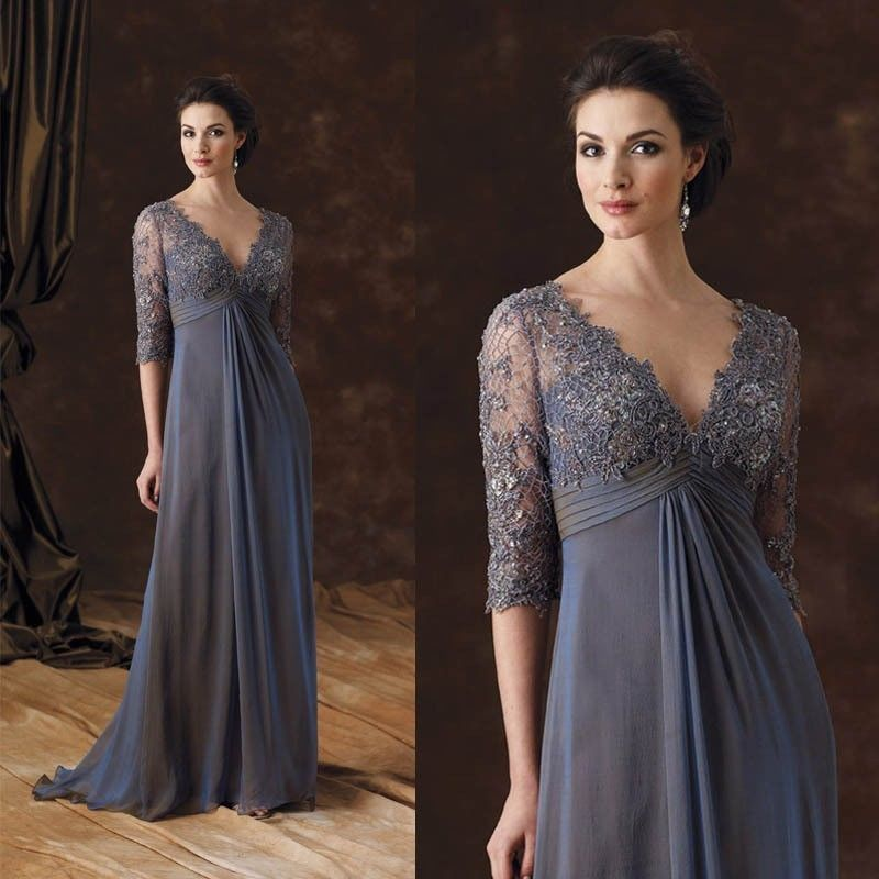 Lace Applique Plus Size Mother Of The Bride Dresses(China)