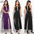 FANALA Summer Dress Women Sleeveless Sexy Long Maxi Party Dresses O-Neck Mesh Patchwork See-Through Slim Women Dress Vestidos
