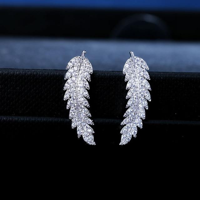 European 2019 New Crystal From Swarovski Earrings For Women Fashion Swan Wedding Jewelry Gift