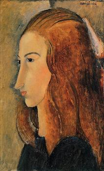 Jeanne Hebutern Amedeo Modigliani art oil painting High quality Portrait painting Woman Hand painted image