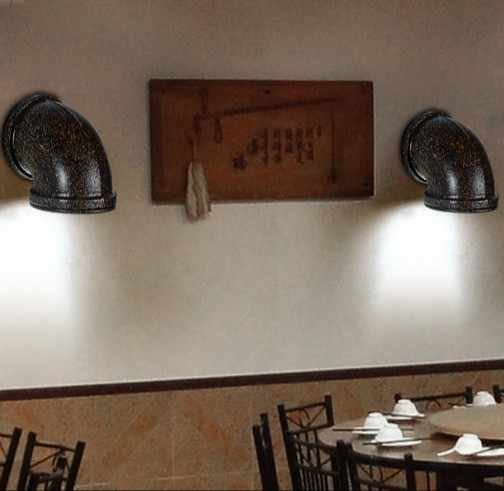 Ретро Лофт Стиль промышленных Винтаж настенный светильник для дома металлические водопроводные трубы светильник Настенный бра Освещение в помещении Lampara сравнению