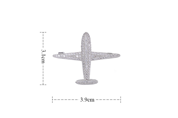 GAOLA New Trendy Design Plane Brooch Pin Cubic Zirconia Jewelry Austrian Crystal Brooches in Brooches from Jewelry Accessories
