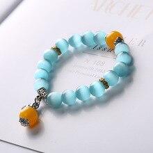 New cats eye national wind mixed pendant bracelet beeswax womens fashion popular wild jewelry