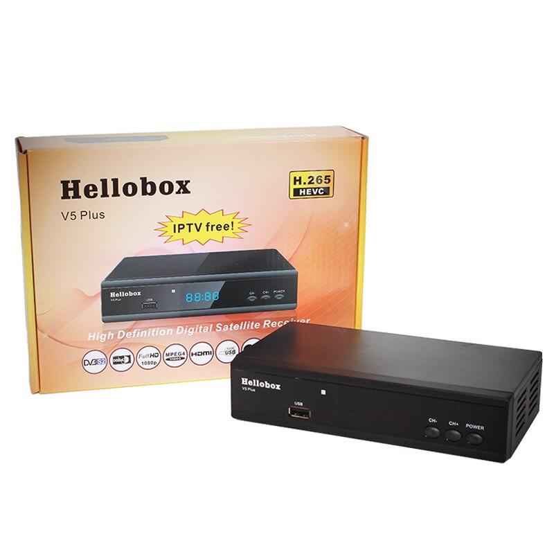 Hellobox V5 Plus récepteur de télévision par Satellite pour Cccam H.265 HEVC Full HD DVBS2 PowrVu Biss récepteur de télévision par Satellite entièrement autoroll IKS-in Récepteur de télévision par satellite from Electronique    1