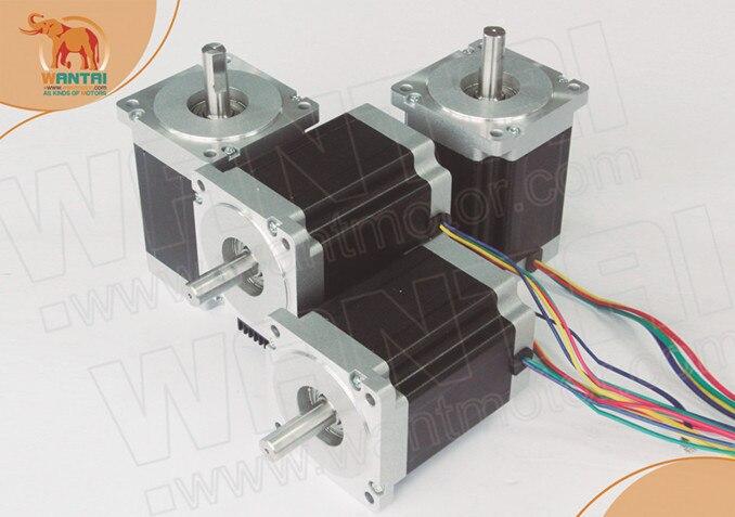 цена на Powel! Wantai 4PCS Nema34 Stepper Motor 85BYGH450D-008 1090oz 99mm 5.6A CE ISO ROHS Plasma Engraver Kit Milling Machine