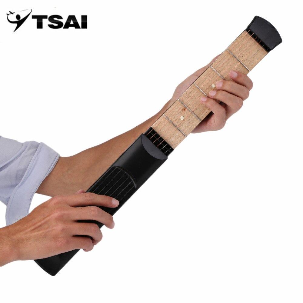 TSAI Pocket Acoustic Guitar Practice Tool Guitar PartsGadget Chord Trainer 6 String 6 Fret Model for Beginner Hot Sale tsai chin taipei