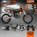 Custom Team Graphics & Backgrounds Decals 3M Cutomized Stickers For KTM SX SXF EXCF XCW  EXC 125 250 300 400 530 2005 to 2017