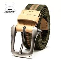 JXQBSYDDK 브랜드 도매 남성 벨트 남성 캐주얼 벨트 높은 품질의 캔버스 벨트