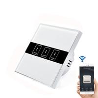 EU Plug 1 2 3 Gang Wireless Wifi Wall Light Touch Switch Remote Control Switch Panel