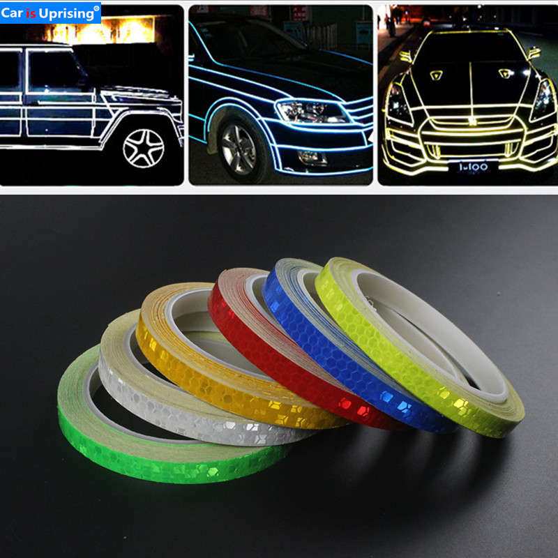 1PC 8 Meter Car Styling Reflective Stripe Tape Body Rim Wheel Stripe Tape <font><b>Stickers</b></font> for <font><b>Mazda</b></font> 2 3 <font><b>5</b></font> 6 CX-3 CX-4 CX-<font><b>5</b></font> Atenza Axela image