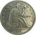 Соединенные Штаты конфедерат Штаты Америки 1861 конфедерат половина долларов свободы сидя 1/2 доллара 90% серебряные копии монет