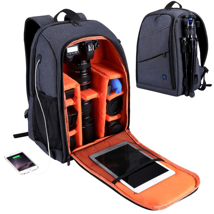 Multifunctional outdoor photography backpack Waterproof multipurpose camera bag