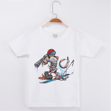 купить Brand Children Clothing Kids T-shirt Funny Baseball Cartoon Top Cotton Boy Short T Shirts Girl Tops Baby Child Shirt Teen Tee дешево
