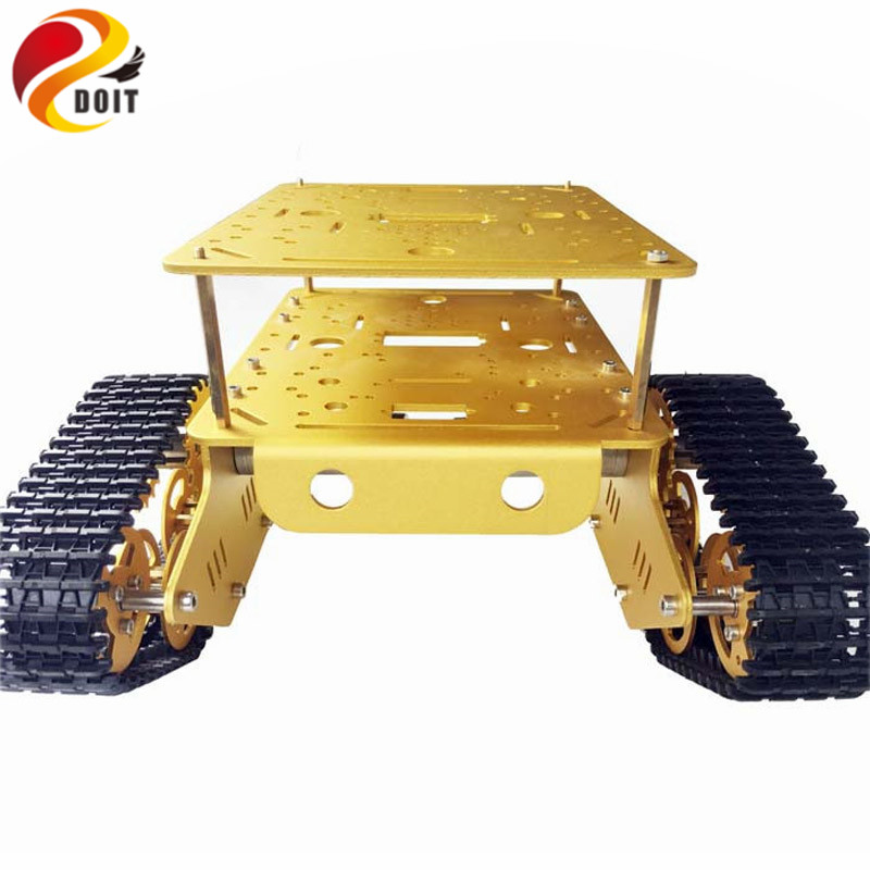DOIT Metal Crawler Tank Chassis Tank Model TD300 with Aluminum Alloy Frame Plastic Tracks 2 Motor for Robot of Gen Guest ContestDOIT Metal Crawler Tank Chassis Tank Model TD300 with Aluminum Alloy Frame Plastic Tracks 2 Motor for Robot of Gen Guest Contest