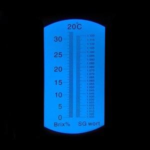 RSG-32ATC البيرة نبتة و النبيذ الإنكسار ، المزدوج مقياس محددة الجاذبية 1.000-1.120 و 0-32% بركس