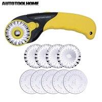 45mm Rotary Cutter set 10 unids mezcla cuchillas de repuesto Telas paños Cúter descuento para olfa Dafa artes artesanía scrapbooking