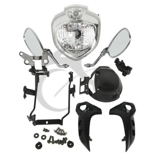 Motocykl HEADLIGHT SET HEAD LIGHT MONTÁŽ PRO 2004-2006 YAMAHA FZ6 - Příslušenství a náhradní díly pro motocykly