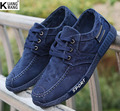 Autumn new men canvas shoes The trend of Korean casual denim shoes Fashion wild men's shoes