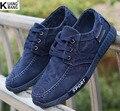 Otoño nuevos hombres de la lona zapatos de La tendencia de Corea del dril de algodón ocasional de Moda salvaje zapatos de los hombres
