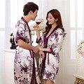 Spring Summer Silk feeling Lovers Set Fashion Lounge Long-sleeve Sleepwear Pajamas For Women Hot Sale Female Satin Nightgown