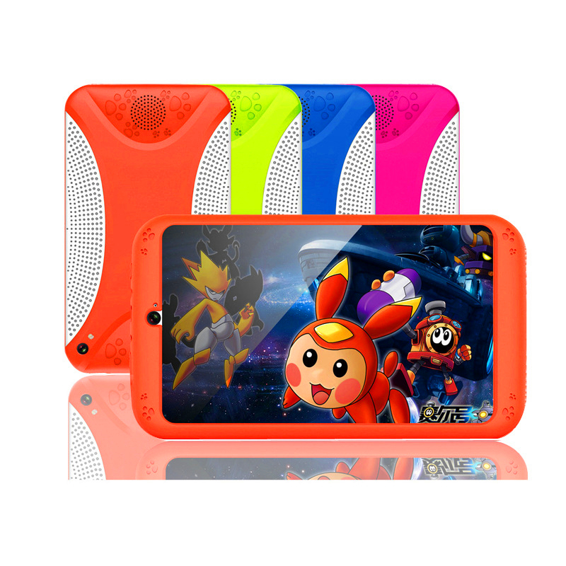 7 Inch Tablet Android WIFI Phone Call 512M+8G Quad Core Tablet Pc Wifi Bluetooth 1024*600 IPS Screen Color Cartoon Tablet Kids 7
