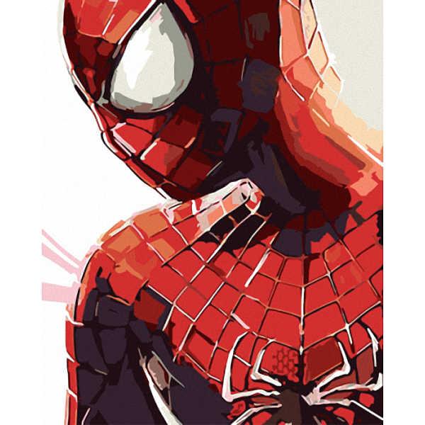 Bezramkowy obraz na ścianę farba akrylowa według numerów ręcznie malowany obrazek według numerów unikalny prezent obraz olejny Avengers-Spiderman