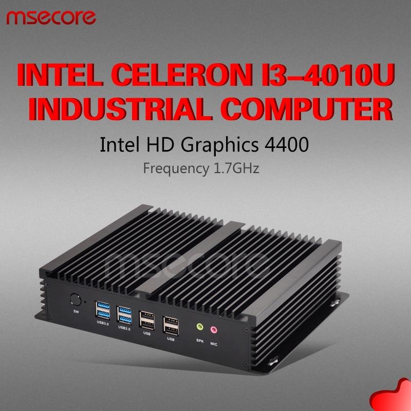 MSECORE I3 4010U Fanless Mini PC Windows 10 Desktop Computer industrial linux Nettop barebone 6COM 2*LAN HTPC HD4400 300M WiFi