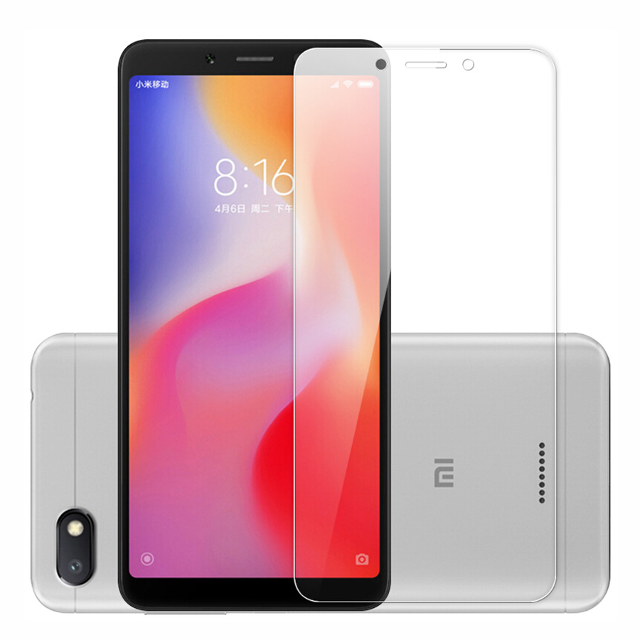 ALANGDUO 2pc Tempered Glass For Xiaomi Redmi 6A Redmi Note 5 5A 4 4X 4A