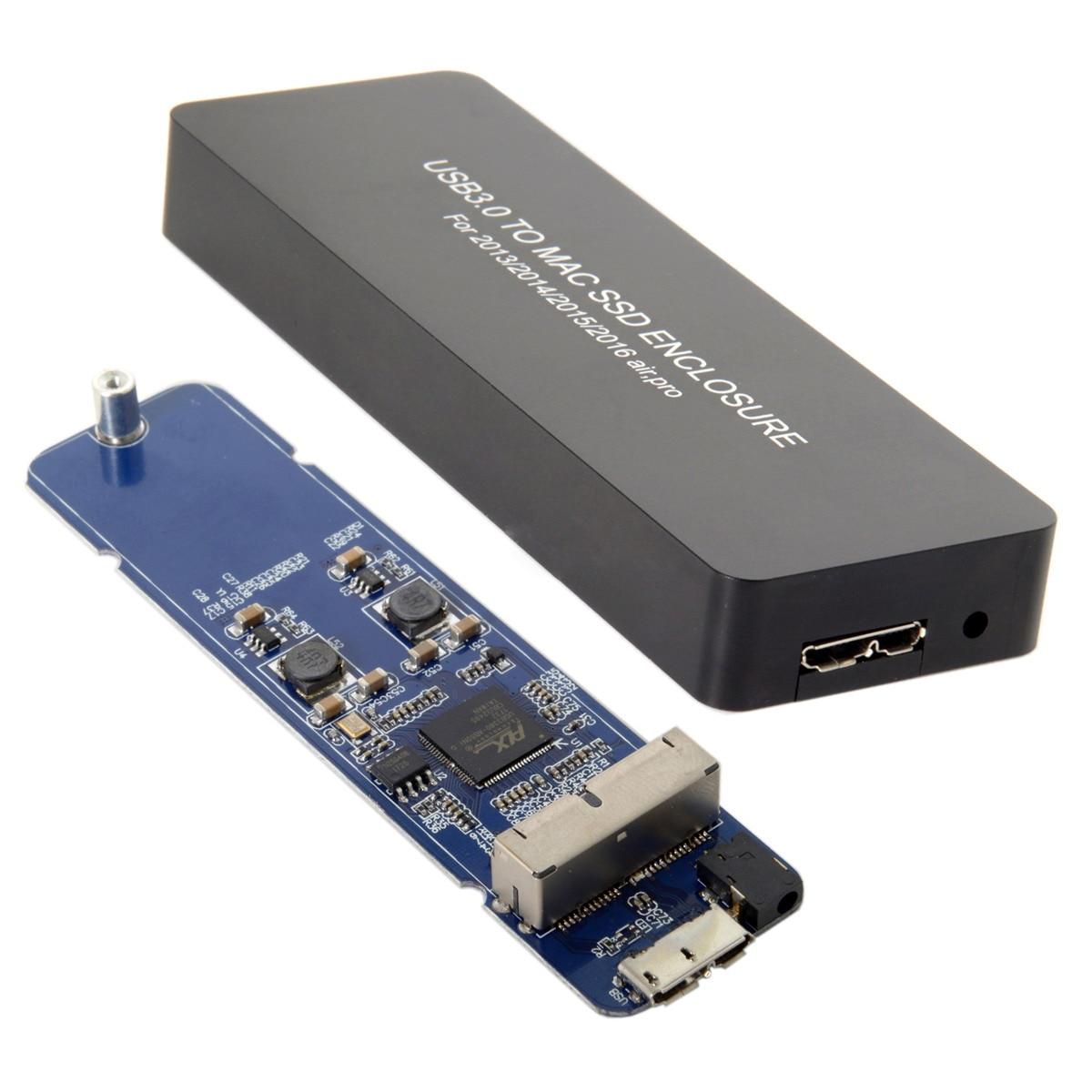 Cablecc CY Mac book Air Pro 2013 2014 2015 2016 SSD boîtier Portable USB 3.0 à 16 + 12 broches boîtier Mobile HDD boîtier câble d'alimentation tournevis