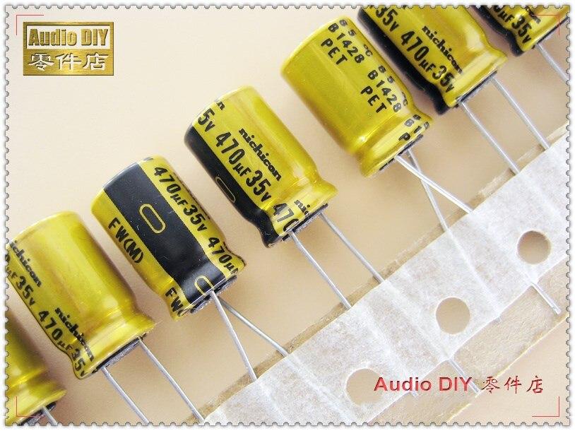 10Pcs ELECYINGFO Nichicon FW Series 470uF 35V470uf Audio Electrolytic Capacitor