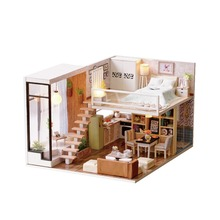 DIY Sweet Wooden Miniature Dollhouse Handmade Assembly Model House Toy Gift toys for children baby doll educational toys