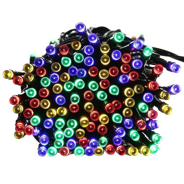 Ledertek Christmas Lights, 72ft 200 LED Solar String Lights for Indoor/Outdoor, Home, Patio, Garden, (Multi Color)