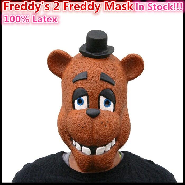 Бесплатная доставка Хэллоуин маска для взрослых Five nights at Freddy Fazbear полный латекс маска-FNAF Реалистичные Маски в наличии