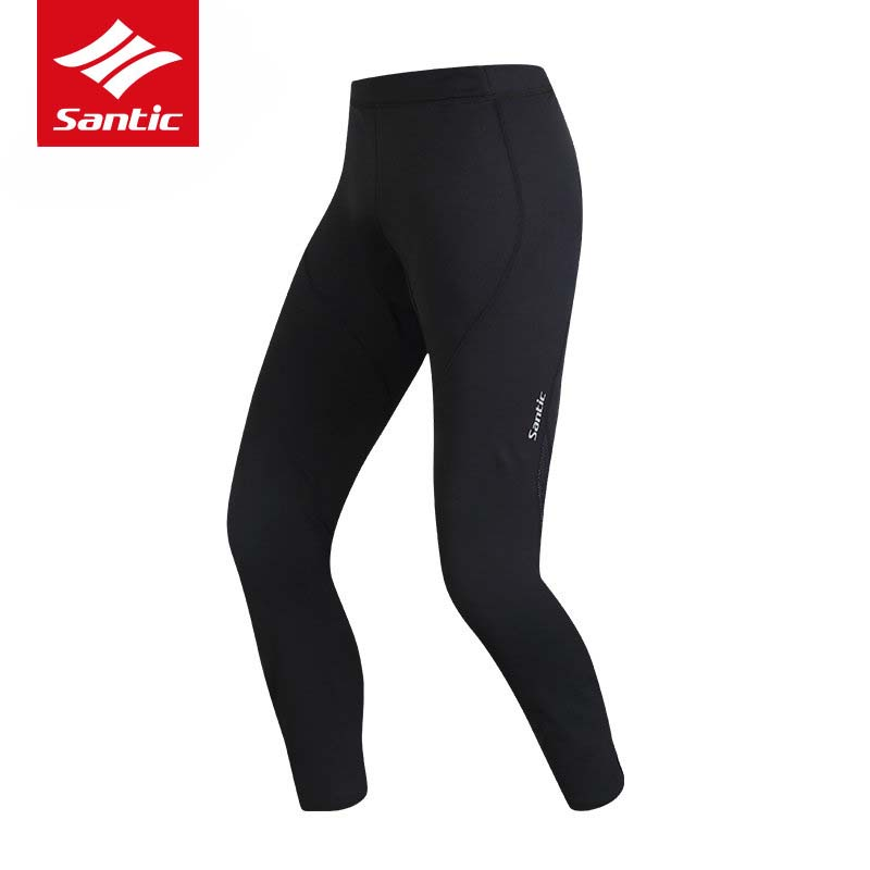 Santic Winter Cycling Pants Thermal Fleece Windproof Men Bike Bicycle Pants 4D Padded Cycling Trousers Bermuda Ciclismo S-3XL rax 2015 thermal fleece hiking pants for men women winter outdoor sports warm fleece trousers fleece camping pants 54 4f089
