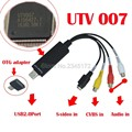 Easycap USB Video Capture Адаптер ТВ DVD VHS Captura для компьютер ТВ-Камеры, USB 2.0 DC60 Easiercap UTV007 поддержка Android телефон