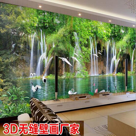 2015 1 sq m 3d pittura di paesaggio natura murale ikea for Ikea carta da parati