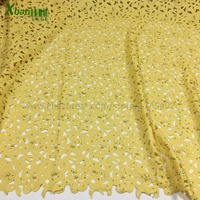 Laser Cut Border Lace Cotton Lasercut Fabric Rhinestone Pearls Lace Fabric