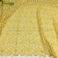 Laser Cut Border Lace Cotton Lasercut Fabric Rhinestone Pearls Lace Fabric