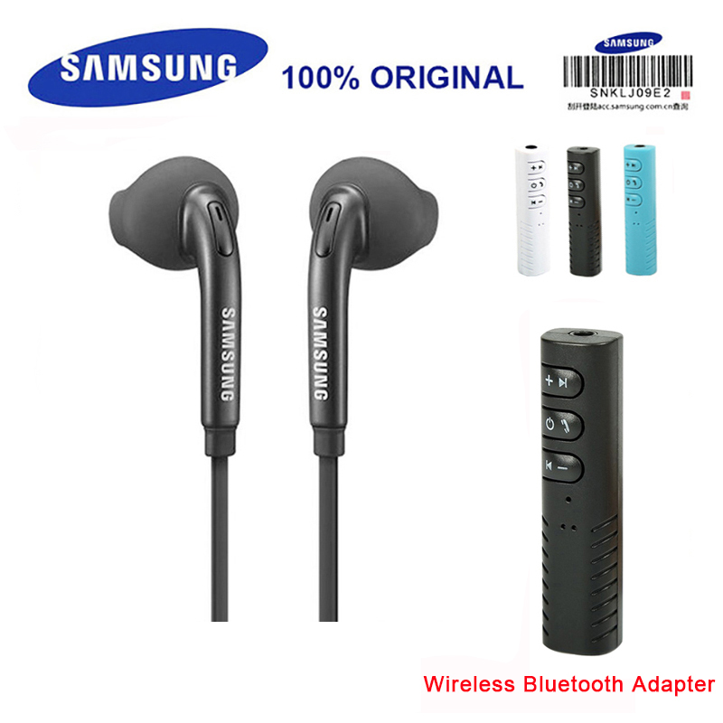 SAMSUNG EO-EG920LWGH59 Wired 3 5mm Headsets with Wireless Bluetooth Adapter  1 2m In-ear Mic Earphones For Samsung S8 S8Edge S9