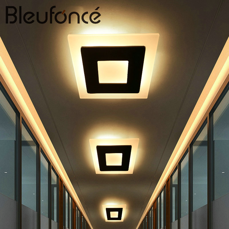 Ceiling Light Modern Simple LED Lamp Aluminum Acrylic Home Decor Ceiling Light Bedroom Living Room Hallway Lighting Lamp BL203