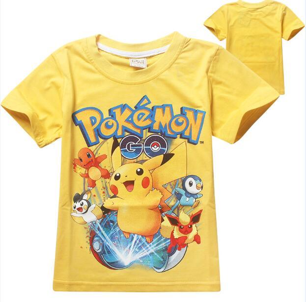 Брендовая футболка для мальчиков милый покемон для мальчиков футболка для детей Дизайнерская детская Футболки Топы хлопок короткий рукав ...