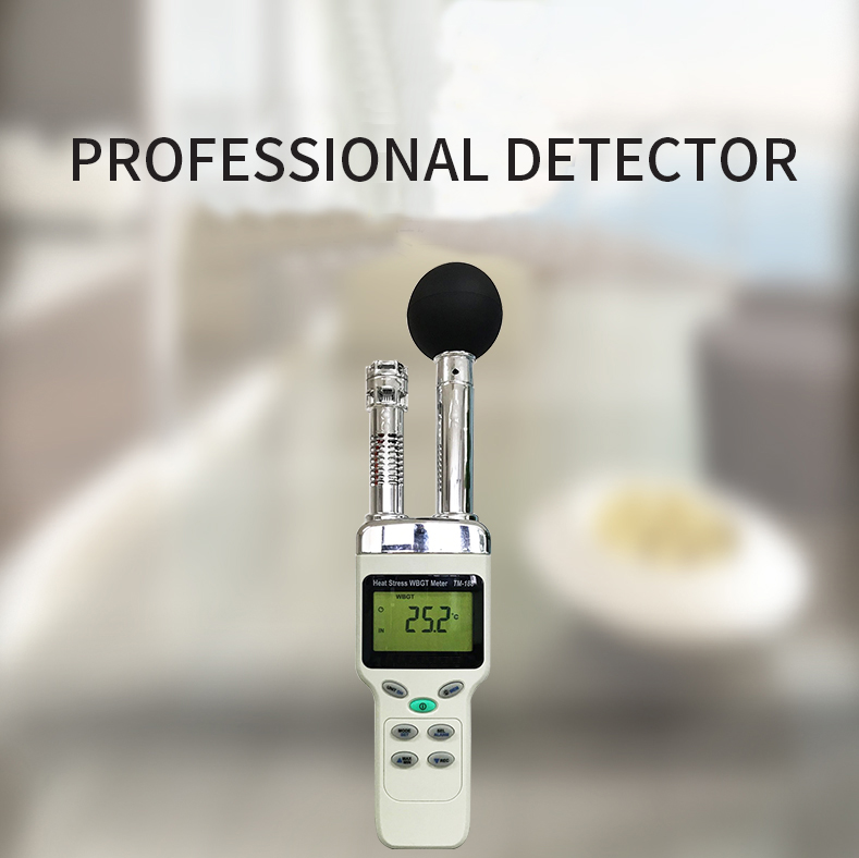 TM188D Heat Stress WBGT Meter Measurement for The Effects of Temperature Humidity, and Direct or Radiant Sunlight TM188
