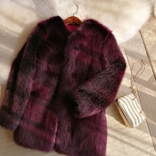2018 New Style High-end Fashion Women Faux Fur Coat S48