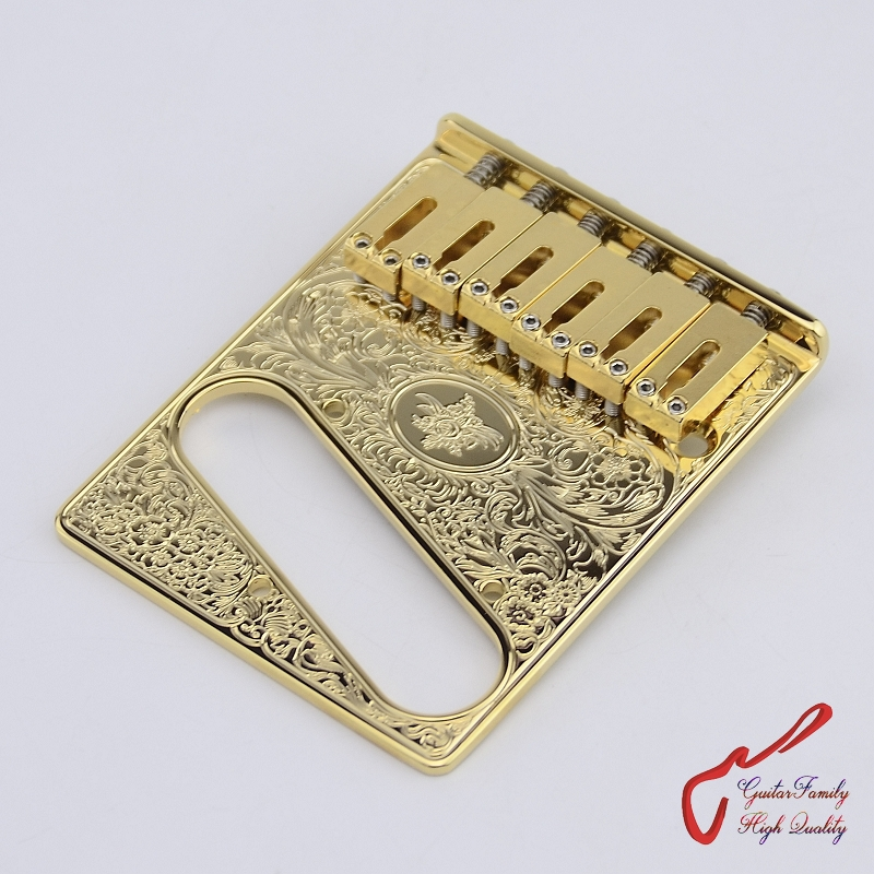 Genuine Original  GOTOH  GTC-ART-01  Electric Guitar Fixed Bridge   Gold  MADE IN JAPAN 1 set genuine original gotoh 510ts sf1 2 points vintage style electric guitar tremolo system bridge gold made in japan