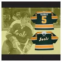 66bc3ab2a Custom XS-5XL Carol Vadnais 5 California Golden Seals Hockey Jersey Stitch  Sewn Any Player