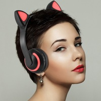 Cat's ears Bluetooth Headphones Sport Wireless earphones Gaming Headset Wired Headphones With Mic For all mobile phone PC Gamer