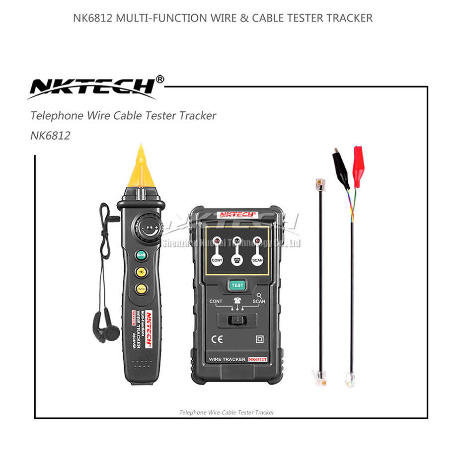 nktech nk6812 cable wire tracker tester network lan internet wire finder telephone phone rj45 rj11 line  [ 930 x 930 Pixel ]